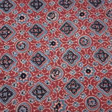 Load image into Gallery viewer, Brick Red Ajrakh Hand Block Printed Pure Cotton Natural Dyed Fabric