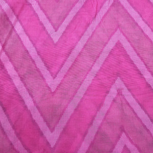 Pink Poly Chanderi Multi Color Self Printed Fabric