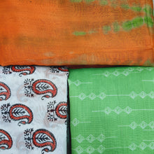 Load image into Gallery viewer, Assorted Cotton Chanderi Digital Print Kurtis (Set of 3)  - 2.5 Mtr Kurtis Each