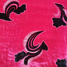 Load image into Gallery viewer, Imported Rani Pink Velvet Brasso Fabric