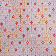 Load image into Gallery viewer, Light Pink Cotton Fabric with Multi Color Thread work and Faux mirror Embroidered