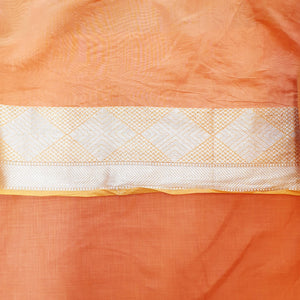 Double Tone Orange Base Chanderi Top & Bottom Set - 2.5 mtr each