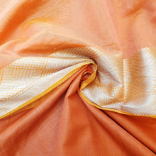 Load image into Gallery viewer, Double Tone Orange Base Chanderi Top & Bottom Set - 2.5 mtr each