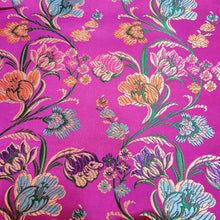 Load image into Gallery viewer, Magenta Base Brocade Satin Silk  Banarsi Resham kaduva Jaal  Fabric