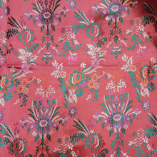 Load image into Gallery viewer, Peach Base Brocade Satin Silk  Banarsi Resham kaduva Jaal  Fabric