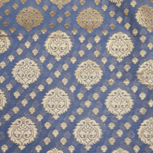 Load image into Gallery viewer, Plwder Blue Base Banarasi Butti Chanderi Silk Fabric with Zari Weaving Motif