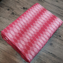 Load image into Gallery viewer, Pink Woven Single Ikat Cotton Handloom Fabric