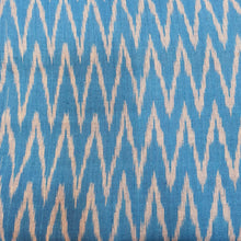 Load image into Gallery viewer, Light Sky Blue Woven Single Ikat Cotton Handloom Fabric