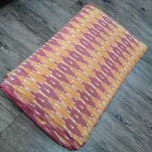 Load image into Gallery viewer, Orange & Maroon Ikat Cotton Handloom Fabric