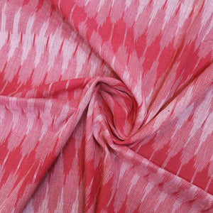 Cherry Red Ikat Cotton Handloom Fabric