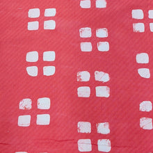 Load image into Gallery viewer, Peach & White Cotton Jacquard Handblock Printed Fabric