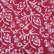 Load image into Gallery viewer, Red & White Cotton Jacquard Handblock Printed Fabric