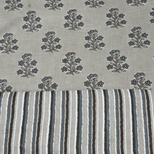 Load image into Gallery viewer, Grey Cotton Hand Block Printed Top & Bottom-2.5 mtr each