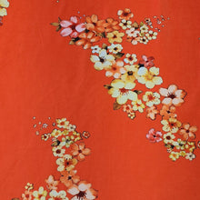 Load image into Gallery viewer, Orange Green Micro Velvet Digital Printed Fabric