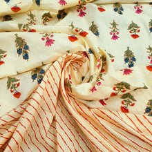 Load image into Gallery viewer, Lemon Yellow Cotton Hand Block Printed Top & Bottom-2.5 mtr each