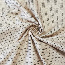 Load image into Gallery viewer, Cream Polka Dots Pattern Woven Cotts Wool Fabric