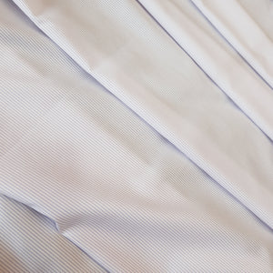 White & Powder Pink Stripes Mens Shirting Cotton Fabric