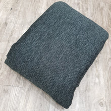 Load image into Gallery viewer, Dark Grey Woolen Imported Woven Fabric