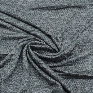 Dark Grey Woolen Imported Woven Fabric