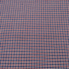 Load image into Gallery viewer, Red & Navy Blue Check Pattern Woven Cotts Wool Fabric
