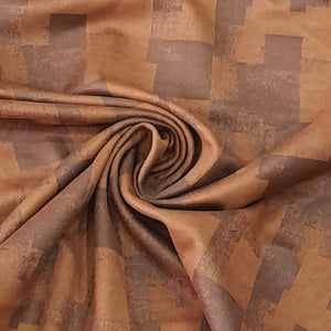 Dark & light  Brown Suede Fabric