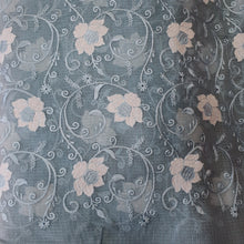 Load image into Gallery viewer, Light Grey Embroidered Kota Doriya Fabric