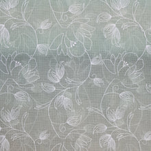 Load image into Gallery viewer, Light Pista Green Cotton Kota Embroidered Fabric