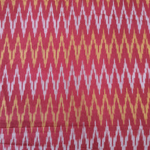 Load image into Gallery viewer, Red & Orange Mercerised Ikat Cotton Handloom Fabric