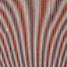 Load image into Gallery viewer, Rust & Brown Stripped Pattern Woven Cotts Wool Fabric