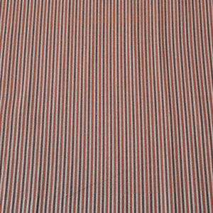 Rust & Brown Stripped Pattern Woven Cotts Wool Fabric