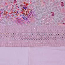 Load image into Gallery viewer, Pink Base Embroidered With Digital Printing  Cotton Chikankari Style Top & Bottom-2.5 mtr each