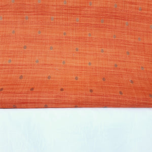 Saffron & Milky White Viscose Tussar Buty Fabric For Men's Kurta-Pajama Set