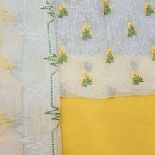 Load image into Gallery viewer, Yellow,Green & White Kota  Cotton Suit with Dupatta Suit Set