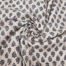 Load image into Gallery viewer, Cream Base With Buti  Pattern Pure Organic Cotton Handcrafted Block Printing.