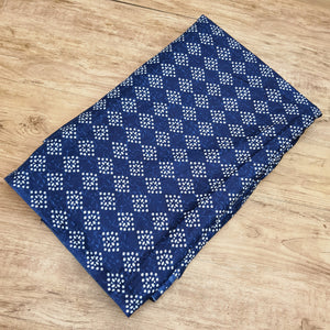 Navy Blue Abstract white Pattern on Cotton Hand Block Print.