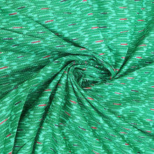 Load image into Gallery viewer, Green Base Cotton Katha Work Block Print Fabric