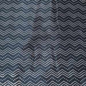 Black Base Stripes On Mashroo Silk Fabric