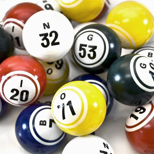 Bingo Balls - Multi Color Pro Series - 1 1/2 inch size - Bingo Equipment - Jackpot Bingo Supplies