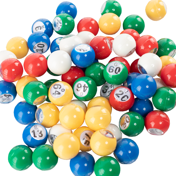 Multi Colored Bingo Balls - 7/8 inch size - Bingo Equipment - Jackpot Bingo Supplies