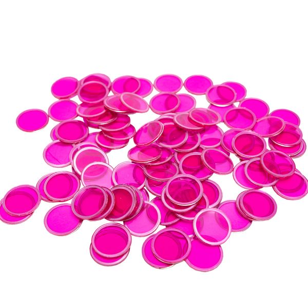 Magnetic Bingo Chips - Purple - 100 Bingo Chips - 3/4 inch size - Bingo Accessories - Jackpot Bingo Supplies