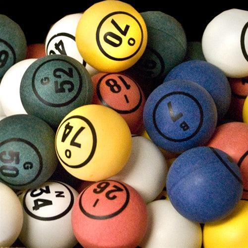 Bingo Balls - Multiple Color 1 Side Print - 1 1/2 inch size - Bingo Equipment - Jackpot Bingo Supplies