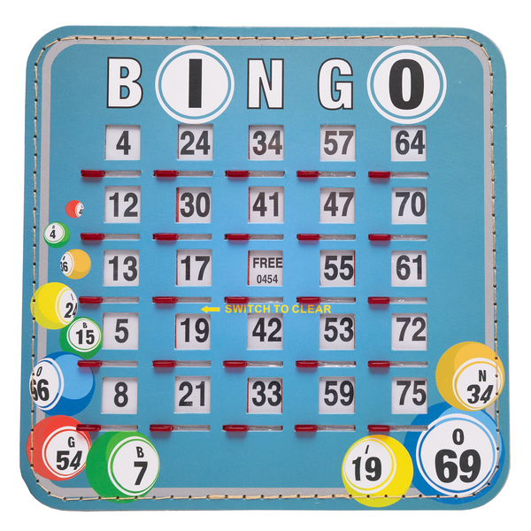 Bingo Shutter Card - Bingo Ball Design - 10 Pack - Jackpot Bingo Supplies