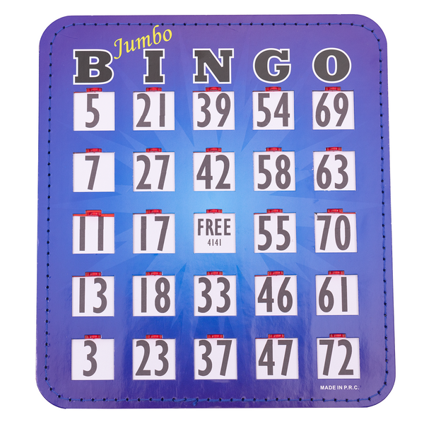 Bingo Shutter Cards - Jumbo - 10 Pack - Jackpot Bingo Supplies