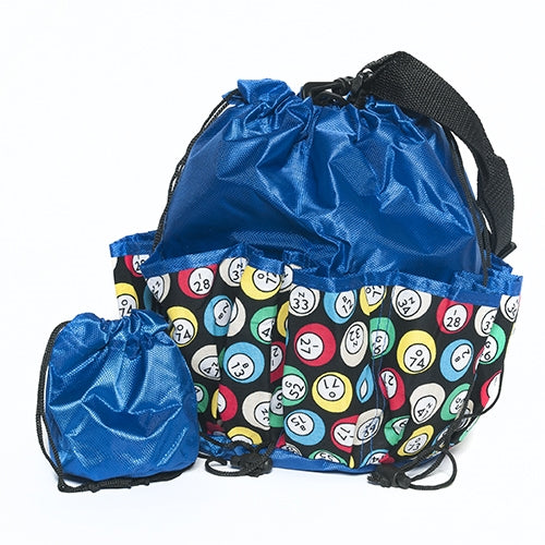 Bingo Bag - Bingo Ball Design - Blue - Bingo Accessories - Jackpot Bingo Supplies
