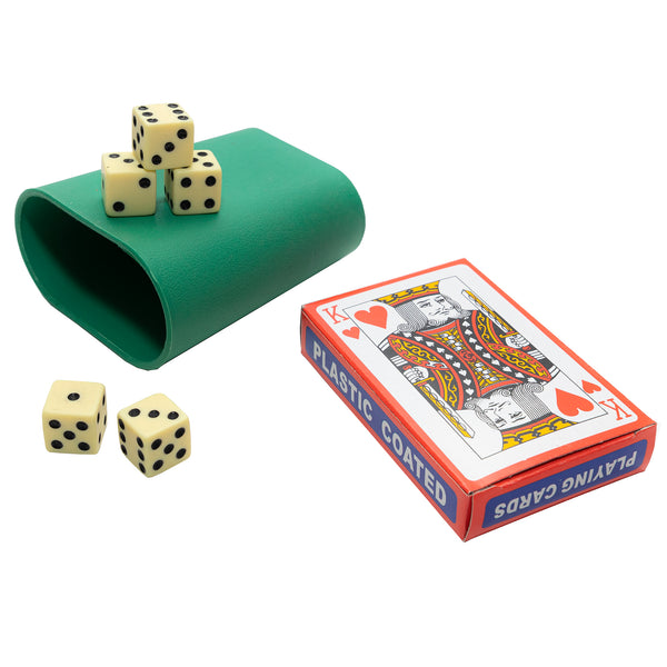 Poker Cards with Dice and Cup - 1 set per pack - Jackpot Bingo Supplies