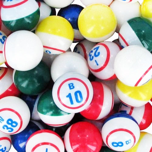 Bingo Balls - Inside Print - Single Number - 1 1/2 inch size - Bingo Equipment - Jackpot Bingo Supplies