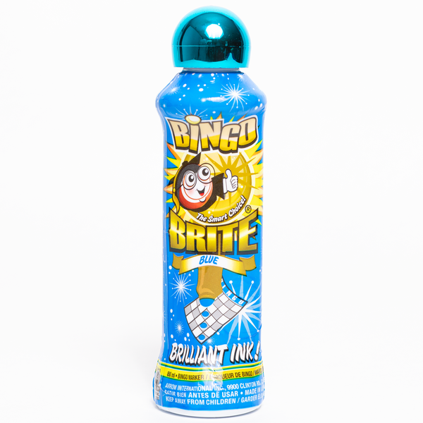 Bingo Brite Bingo Daubers - Blue Ink Markers - 3 ounce size bottle - Jackpot Bingo Supplies