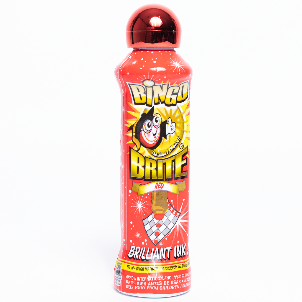 Bingo Brite Bingo Daubers - Red Ink Markers - 3 ounce size bottle - Jackpot Bingo Supplies