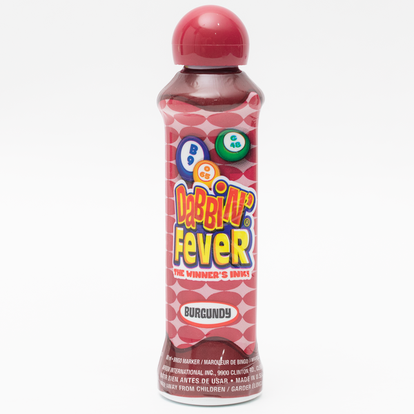 Dabbin' Fever Bingo Daubers - Burgundy Ink Markers - 3 ounce size bottle - Jackpot Bingo Supplies