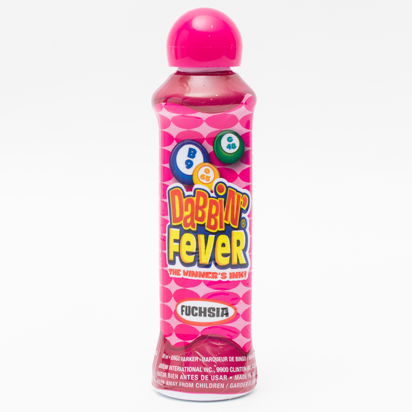 Dabbin' Fever Bingo Daubers - Magenta Ink Markers - 3 ounce size bottle - Jackpot Bingo Supplies